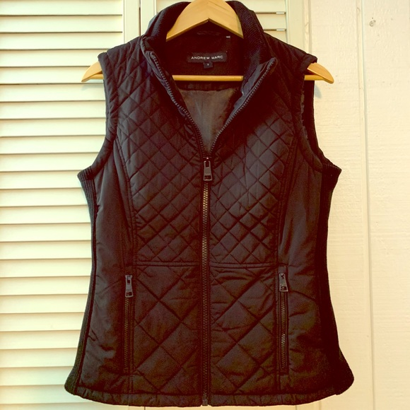 Andrew Marc Women/'s Full Zip Quilted Vest New with Tags Select a size//color